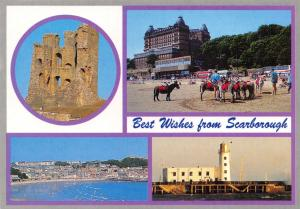 Postcard Best Wishes from SCARBOROUGH North Yorkshire D12