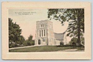 East Hampton Long Island New York~St Luke's Episcopal Church on Hill~1910 PC