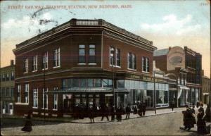 New Bedford MA Railway Transfer Station c1910 Postcard