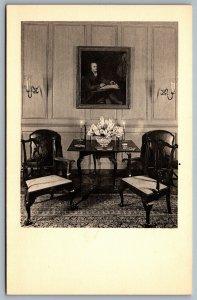 Postcard Winterthur DE c1960s Interior Portrait Pierre Samue du Pont de Nemours