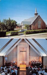 Fairbanks Alaska~First Methodist Church~Inside Out~Second Avenue~1960s Postcard