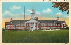 Rochester New Hampshire~Spaulding High School and Grounds~1940 Postcard