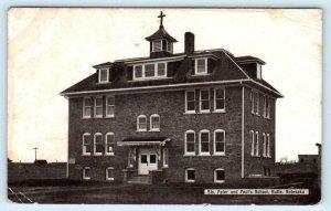 BUTTE, Nebraska NE ~ STS. PETER and PAUL'S SCHOOL  1910 Boyd County Postcard