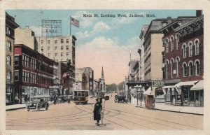 JACKSON , Michigan , 1910s ; Main Street , Looking West