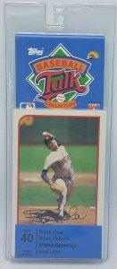 1989 Topps Baseball Talk Soundcard Collection #40 Frank Viola Fred Lynn NOS
