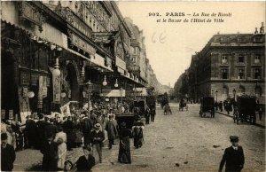 CPA PARIS (4e) La Rue de Rivoli et le Bazar de l'Hotel de Ville (564412)