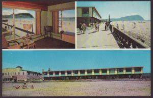 Ocean Front Motel,Seaside,OR Postcard