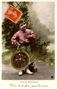 Greetings - Lucky Charm, Happiness for the Home      *RPPC
