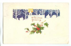 Christmas Greetings, 1925 used American Greeting Postcard