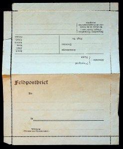 c1918 German WW1 Fieldpostbrief Unused Militaria