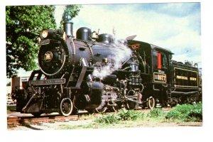 Steam Engine Railway Train, Provincial Museum's Locomotive, British Columbia