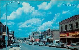 ND, Minot, North Dakota, Main Street, 1960s Cars, Dexter No. 25391-B