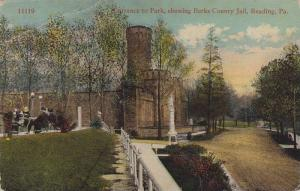 Entrance to Park,  showing Berks County Jail,  Reading,  Pennsylvania,   00-10s