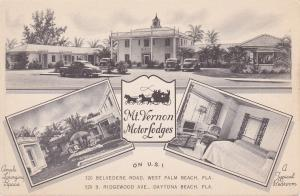 Bi-Fold Mt Vernon Motor Lodges, West Palm Beach & Daytona Beach, Florida, 30-40s