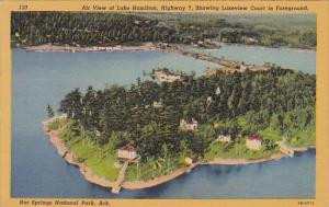 Air View Of Lake Hamilton Showing Lakeview Court In Foreground Hot Springs Na...