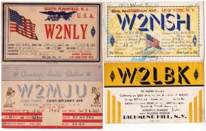 4 - Early W2 QSL Cards 1939 - 46