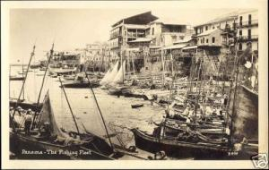 panama, The Fishing Fleet (1930s) RPPC