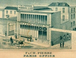1893 World's Fair Engraved F & CH. Pierre Paris Clock Maker Barometers 7G