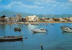 Italy Naxos Giardini General view and Hotels Boats