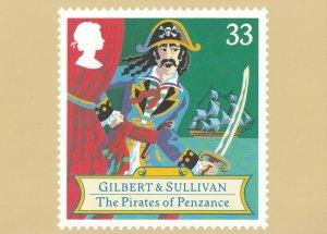 Gilbert & Sullivan The Pirates Of Penzance Opera Rare Postcard