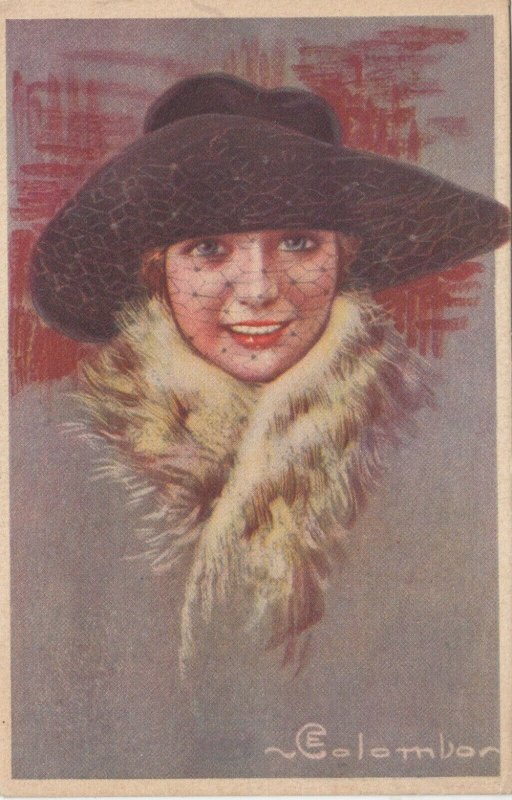 Art Deco ; COLOMBO , Female Fashion Head Portrait, # 3 , 1910-30s
