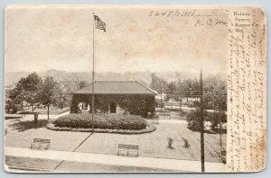 Kansas City Missouri~Holmes Square~Flag in Front~Man in Yard~1908