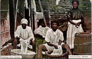 Washerwomen Jamaica Greetings Caribbean Duperly Postcard F52 *as is