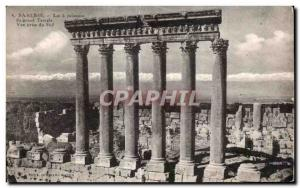 Old Postcard Baalbek The columns of the great Temple View from South Lebanon ...