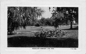 KB11/ Lodi Ohio RPPC Postcard 1910 Woodlawn Cemetery Flowers
