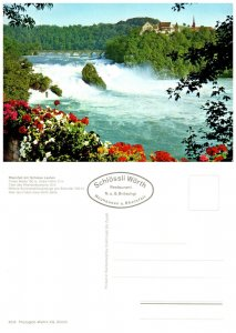 SWITZERLAND Postcard Rhine Falls - Laufen Castle (A14)