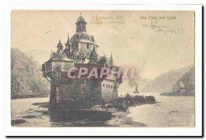 Old Postcard Die bei Caub Plaz (Napoleon)