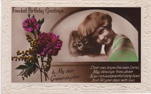 Post Card Greetings - Birthday Fondest Birthday Greetings to My dear Grand-daugh