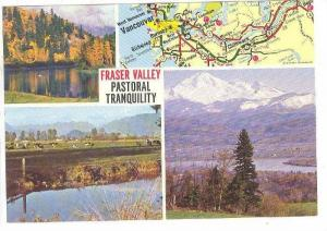 Scenic Greetings and Map of Fraser Valley Pastoral Tranquility, British Colum...