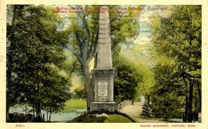 MA - Concord. British Monument