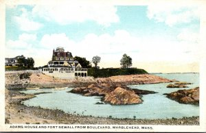 Massachusetts Marblehead Adams House and Fort Sewall From Boulevard
