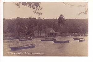 Picnic House, Lake Dunmore, Vermont, Row Boats, Real Photo KRUXO