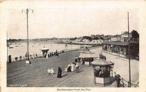 Southampton from The Pier Boats Promenade 1904 Postcard