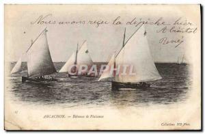 Postcard Old Boat Sailboat Arcachon Pleasure boats