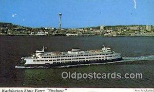 Washington State Ferry, Spokane, Washington, WA USA Ferry Ship Unused