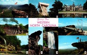 North Carolina Greetings From Western North Carolina Multi View 1967