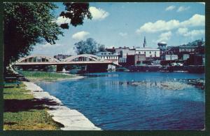 Moira River Bridge Belleville Ontario Canada Postcard