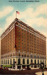 Illinois Springfield Hotel Abraham Lincoln 1958 Curteich