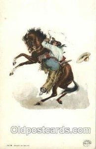 Detroit Publishing Western Cowboy, Cowgirl Unused light corner wear, stains o...