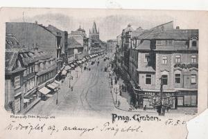B79997 prag graben czech republic  front/back image