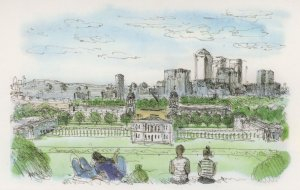 Greenwich Park Naval College New 2011 Flats London Painting Postcard