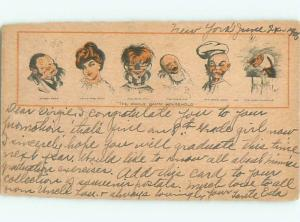 damaged trimmed 1905 Comic THE WHOLE DAMN FAMILY AB8566