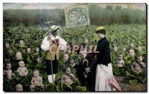 Old Postcard Fantasy Children Babies