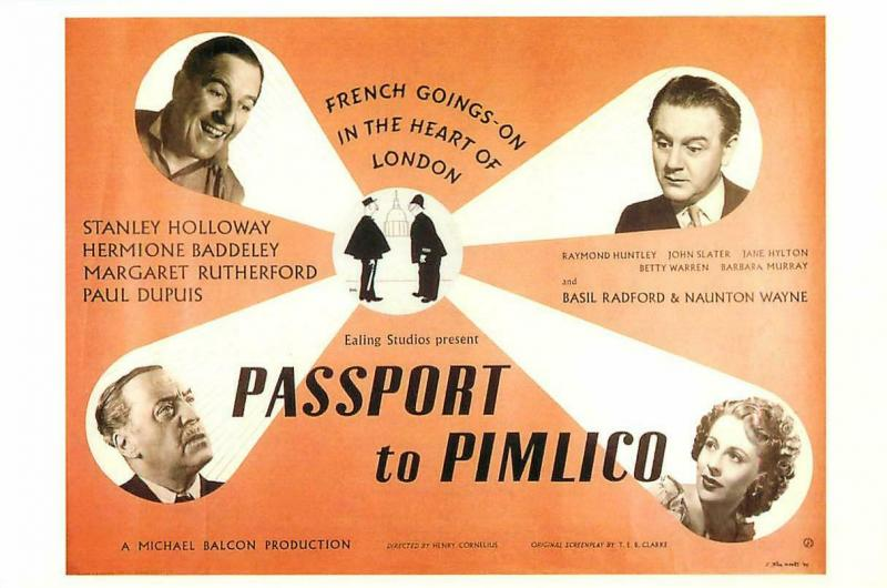 Postcard of Passport to Pimlico British 1940s Movie - Modern Postcard |  Topics - People - Other / Unsorted, Postcard / HipPostcard