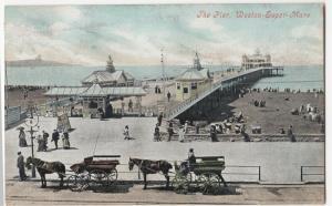 Somerset; The Pier, Weston Super Mare PPC 1908 PMK To Mrs Conwy, Nantgarw