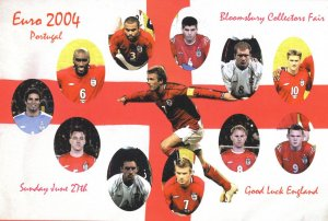 England at Euro 2004 Football Championship Portugal Card Fair Postcard